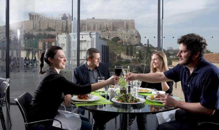 Acropolis Museum Restaurant | Courtesy of Acropolis Museum. Photo Giorgos Vitsaropoulos.