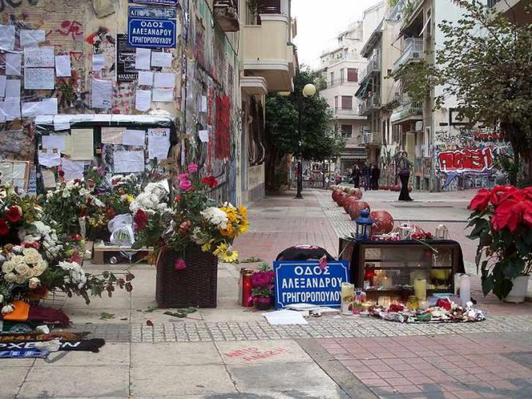 Tzavella street, Alexandros Grigoropoulos's murder spot