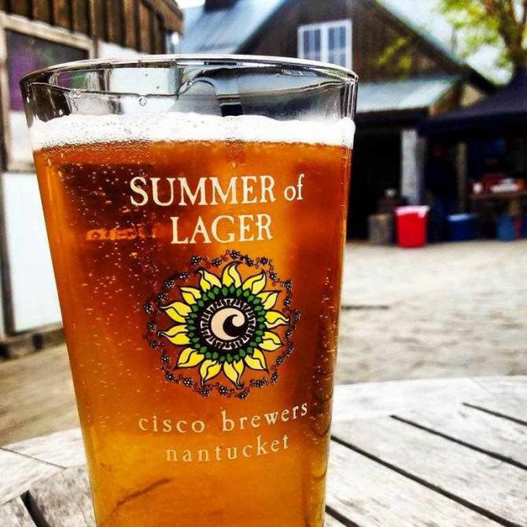 A beer at the Cisco Brewery, Nantucket