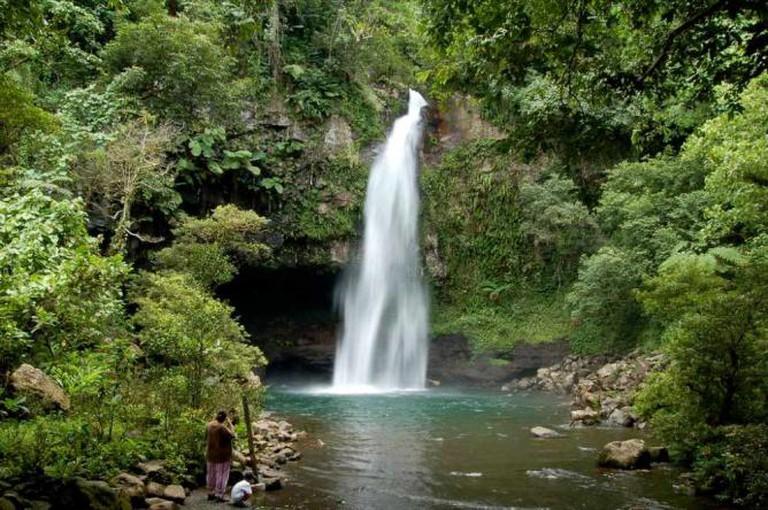 Tavoro Falls on Taveuni Island