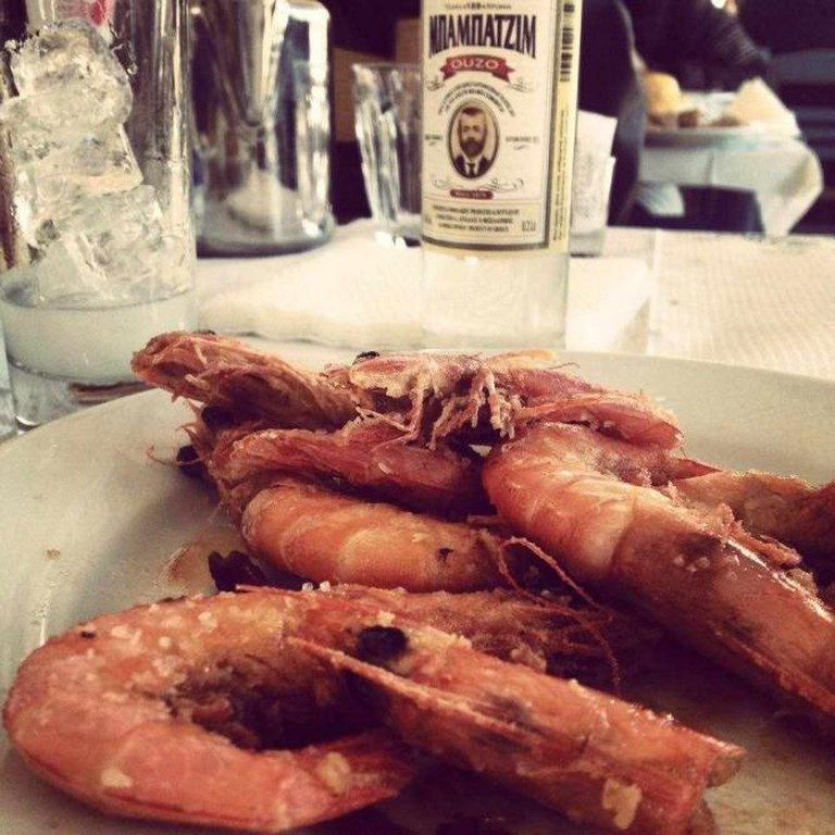 King prawns & ouzo | Courtesy of Margaro