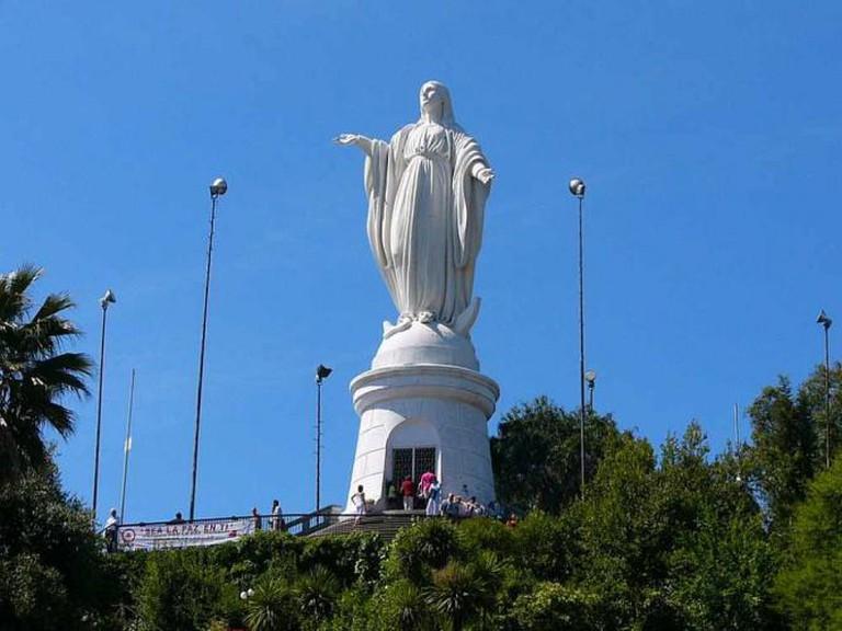 Statue of the Virgin Mary, Cerro San Cristóbal | © Cratón/WikiCommons