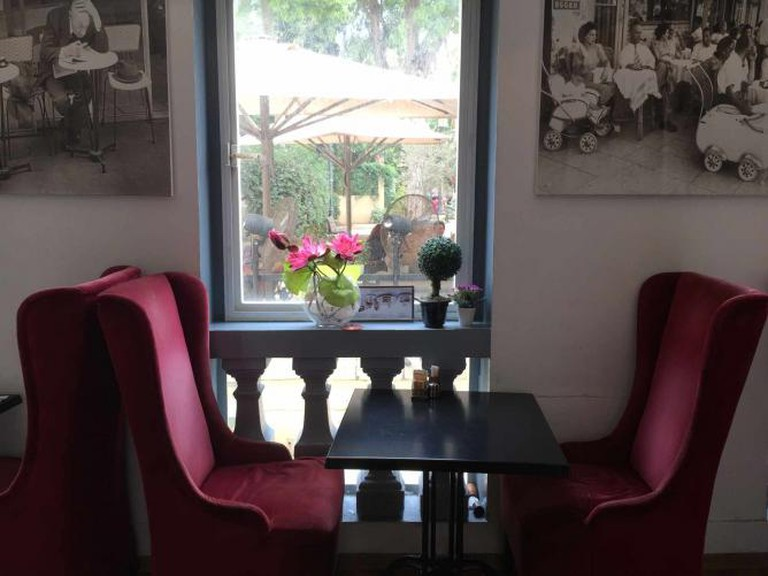 Velvet Chairs at Cafe Cafe Suzanne Dellal