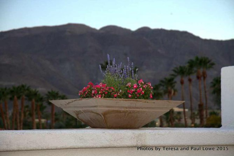 The views of the San Jacinto mountains are beautiful from the Rancho Las Palmas Resort and Spa