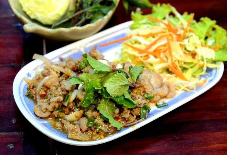 An Isan/Laotian style larb ped