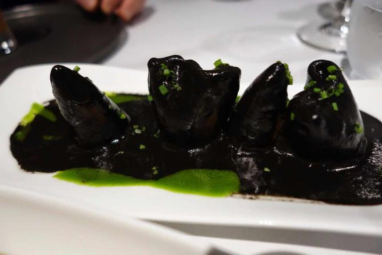 Black Ink Squid at Ametsa with Arzak Instruction: Image by Angie Silver