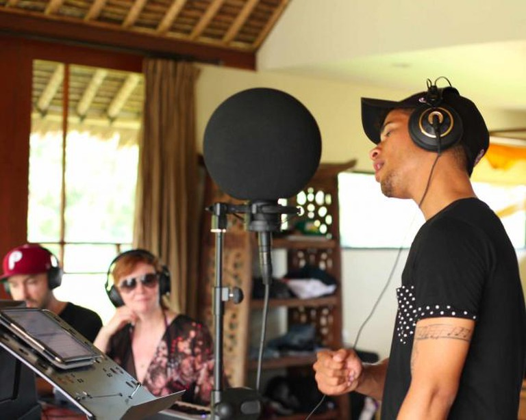 Jordan Fisher (Hollywood Records) recording vocals
