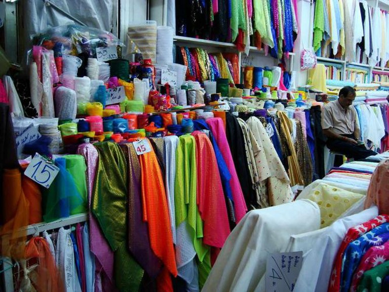 Thai silk in Sampeng Market