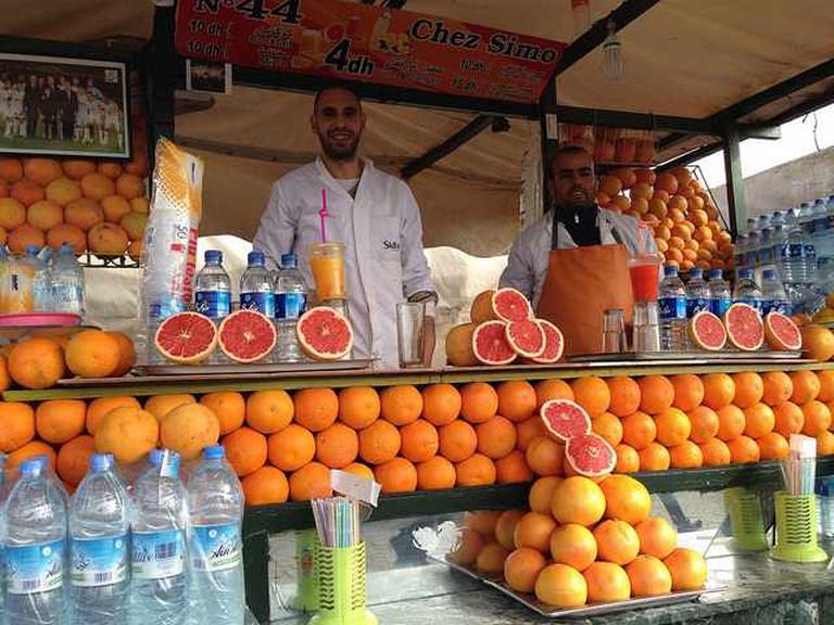 Orange juice in Jemma El Fna Square | © Heather CowperFlickr