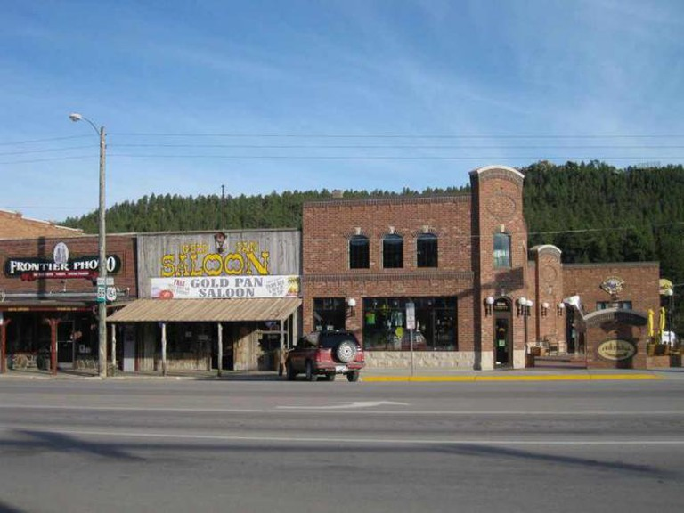 Downtown shops in Custer