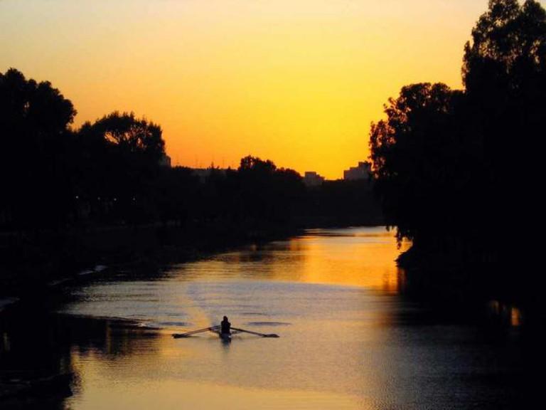 Boat on Yarkon River