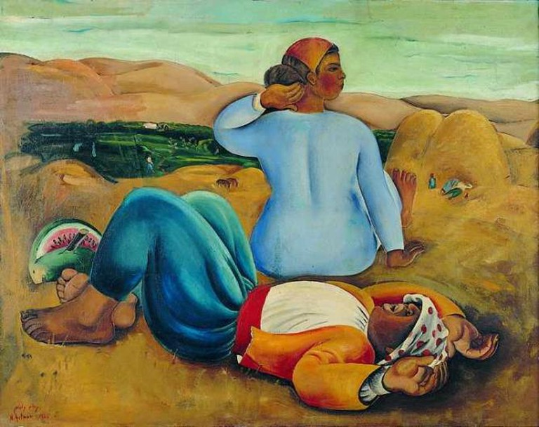 'Resting at Noon' by Nachum Gutman, 1926