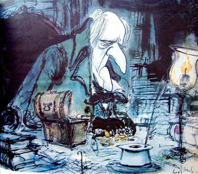 Ebenezer Scrooge by Ronald Searle | © Elizabeth/Flickr