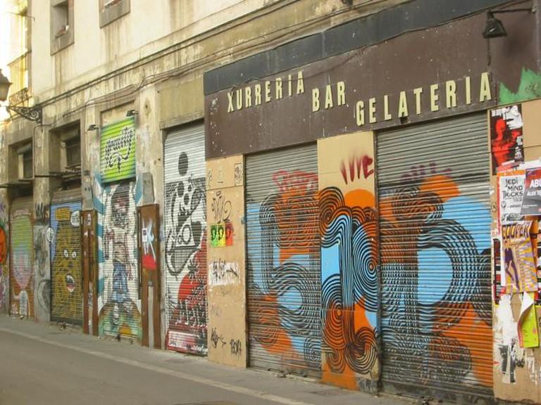 Colourful street art in El Raval | © Katri Niemi/Flickr