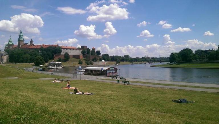 The Vistula and the Wawel Hill