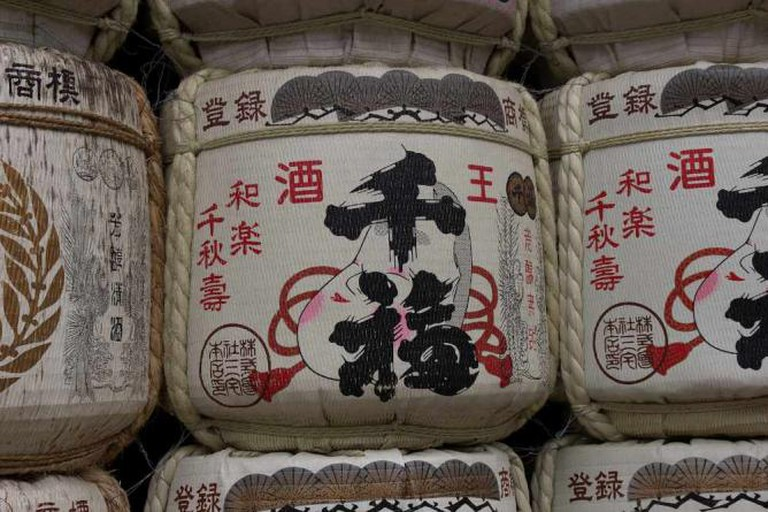 Sake barrels © Christian Kaden/Flickr