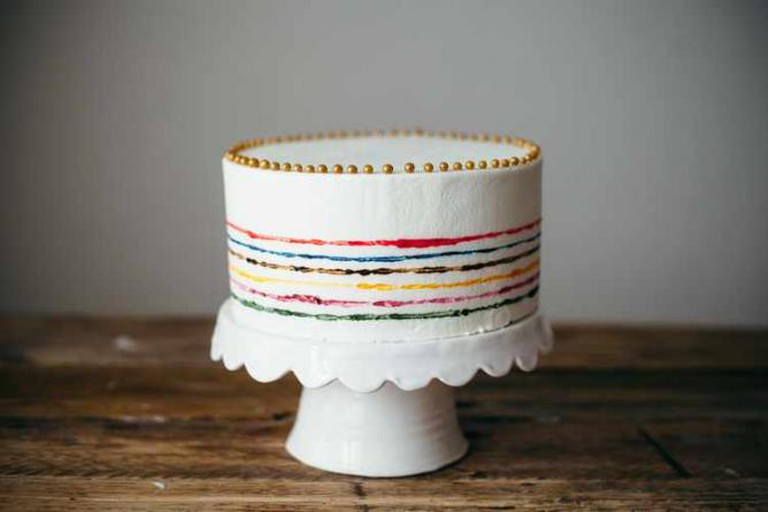 Valentine's Day Almond Cake | Courtesy of Molly Yeh/my name is yeh
