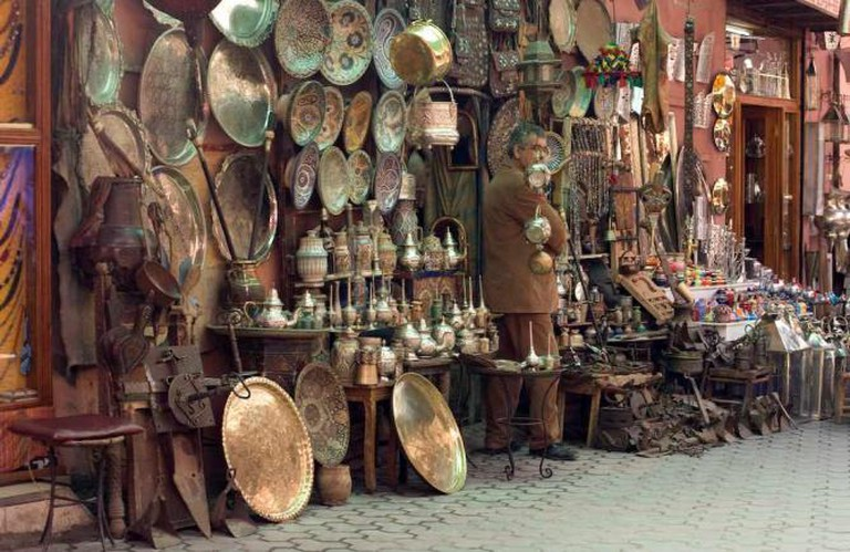 Ceramics and ironware for sale in the souks|©Steve Curati/ Flickr