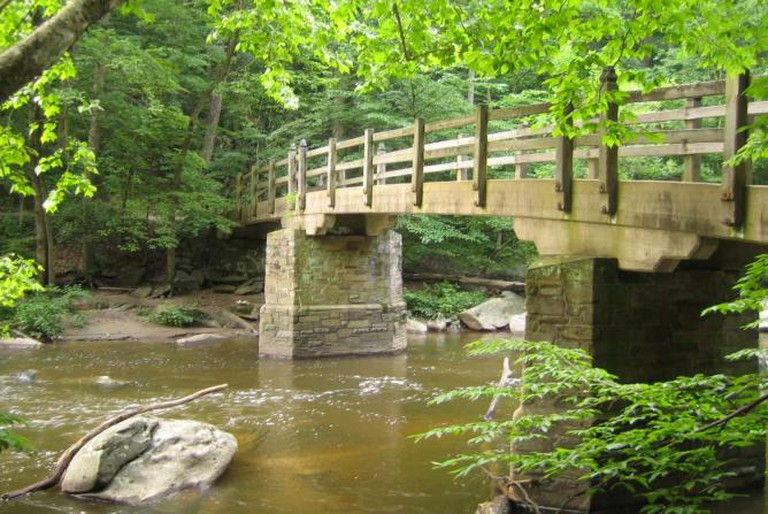 Trail bridge in Rock Creek Park | © TrailVoice/Flickr