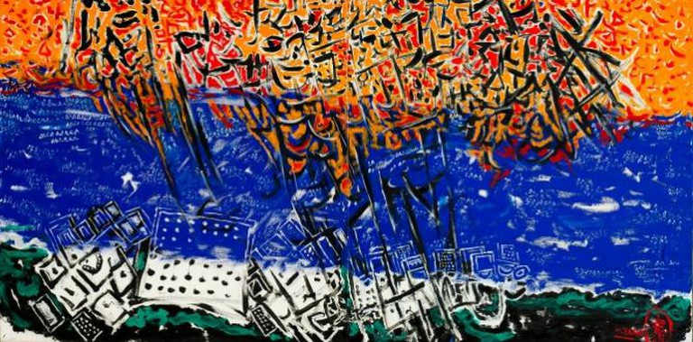 Taha Hussein, ( East...West, luxor ) | Image courtesy of the artist and Al Masar Gallery