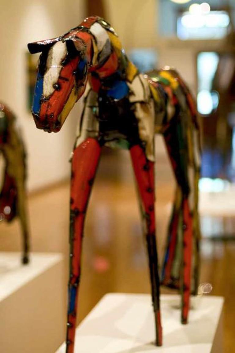 Carol Spielman and Bill Drum sculpture, Yellowstone Art Museum