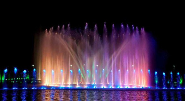 A show at the Multimedia Fountain