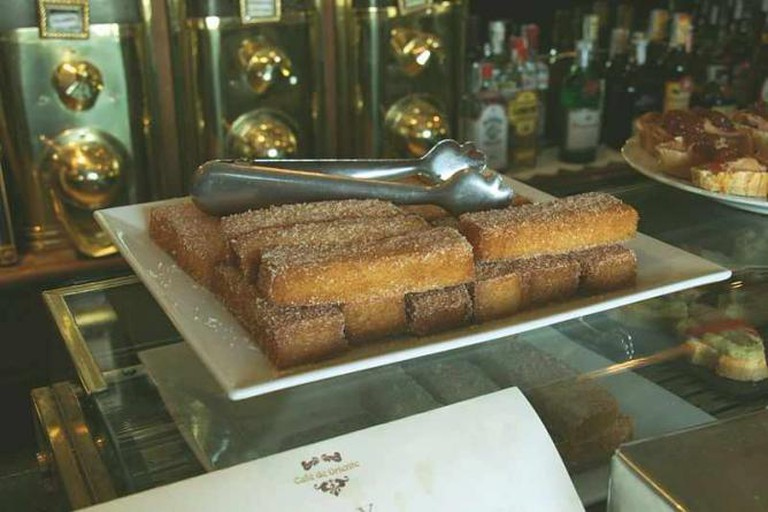 Snacks at the Café de Oriente