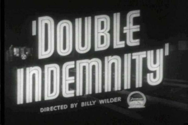 Still from the title sequence of Double Indemnity