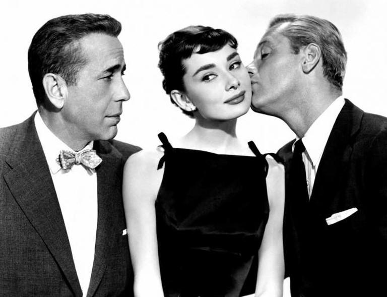 Hepburn, Bogart and Holden in Sabrina