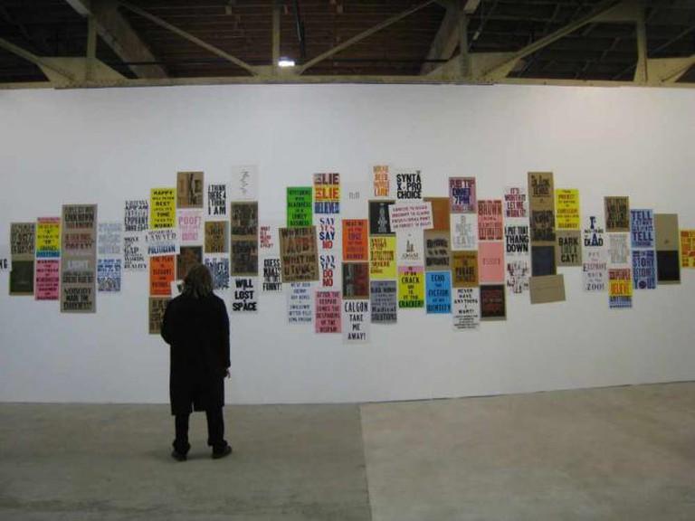 Letterpress Installation, MoCAD | © mollyali/flickr