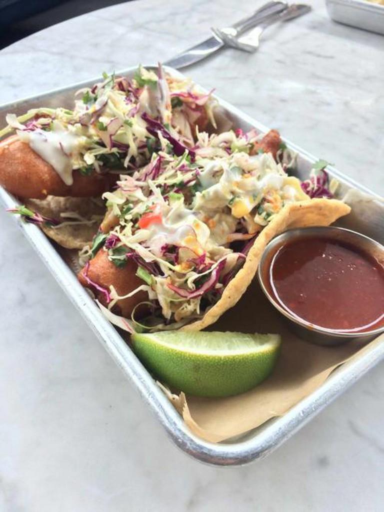 Fish Tacos at Oscar's