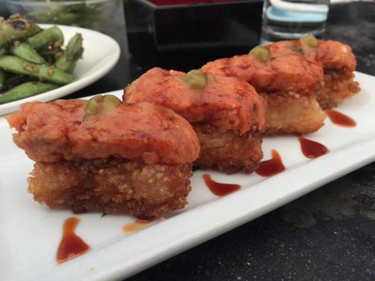 Crispy Rice Cake at Hama Sushi