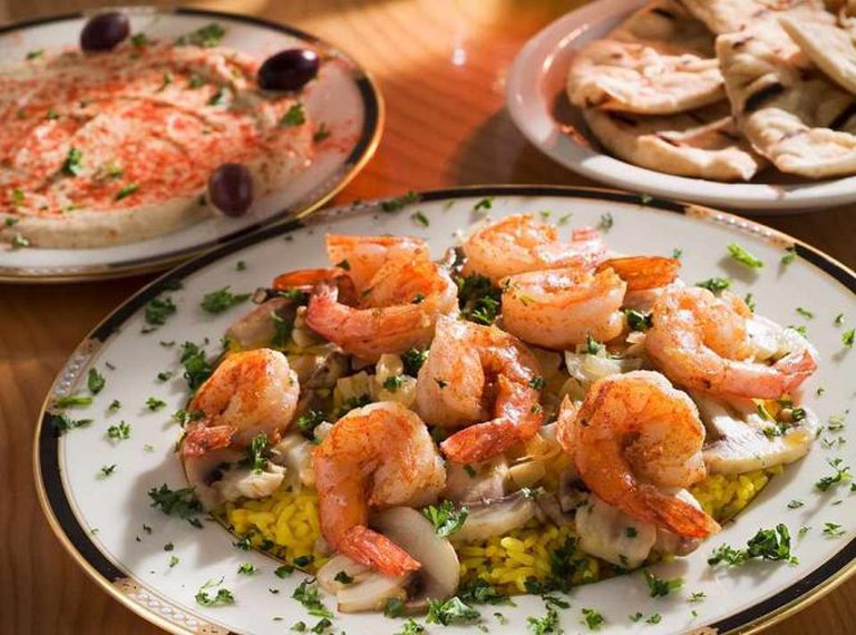 Shrimp scampi | Courtesy The Mediterranean Café
