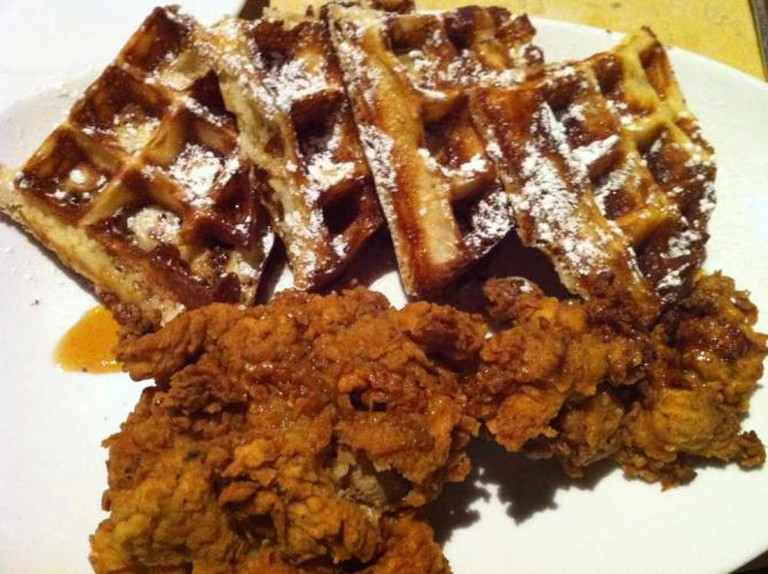 Fried chicken and waffles at Birch & Barley| © David Berkowitz/Flickr
