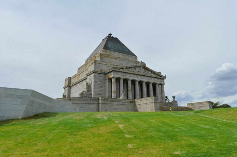 Shrine of Remembrance at the Royal Botanic Gardens