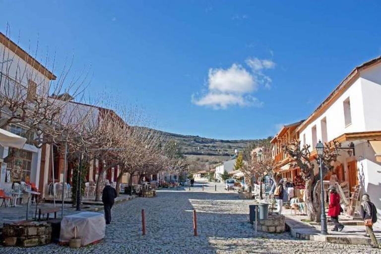 Omodos street, Omodos Village