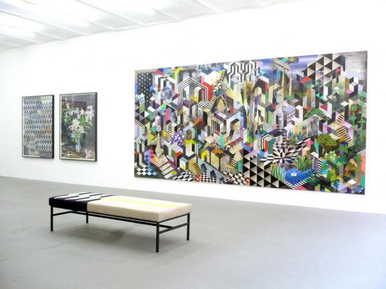 Exhibition view Michael Conrads »Loreto« Produzentengalerie Hamburg 2013 | Credits to Peter Sander