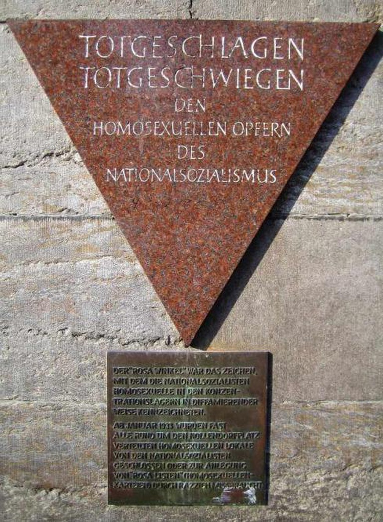 Memorial about the persecution of homosexuals during the epoch of Nazism