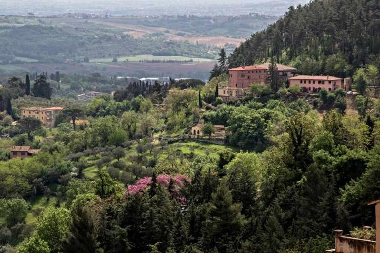 A panoramic view of the Umbrian countryside.