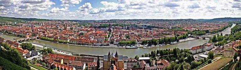 Würzburg's scenic panorama I © VisualBeo/WikiCommons