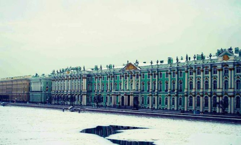 The Winter Palace viewed from Vasilievsky's Palace Bridge | Courtesy of Stefan Hunt