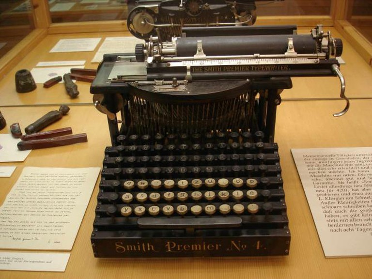 Hermann Hesse's typewriter, on display in the Gaienhofen Museum