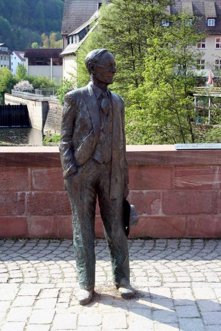 A statue of Hermann Hesse in Calw
