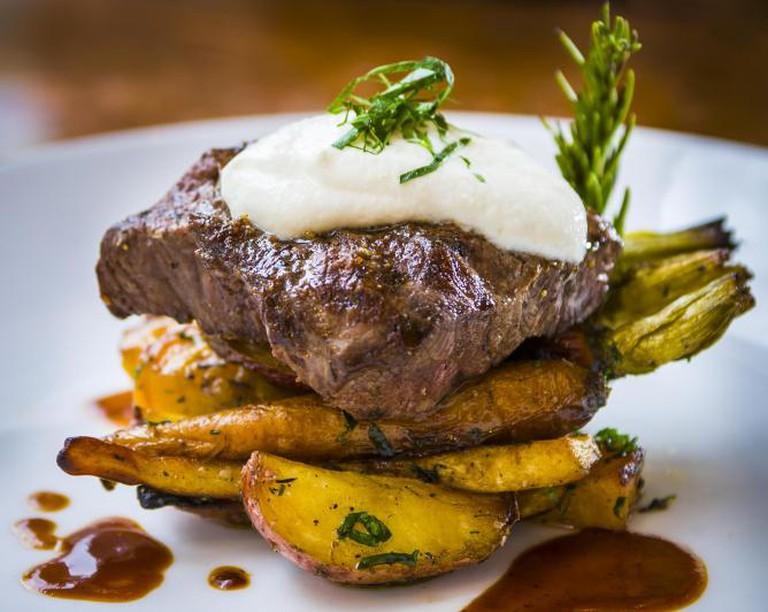 Steak at Justice Snow's