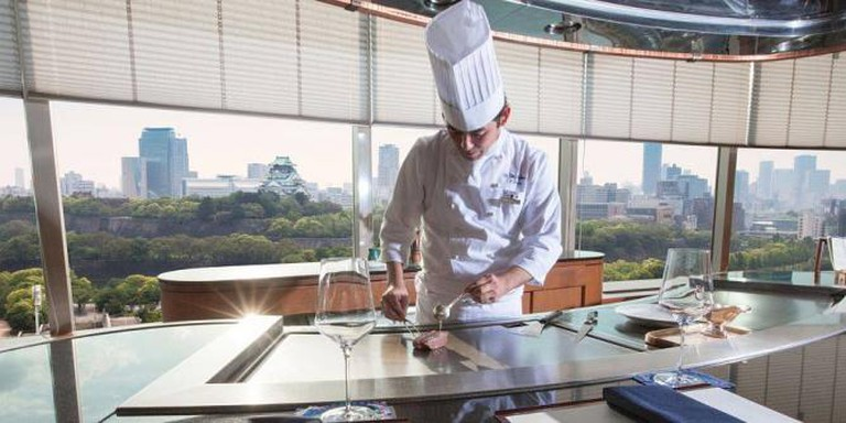 Teppanyaki chef | © Courtesy of Hotel New Otani Osaka