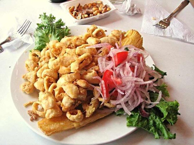 A traditional chicharron dish