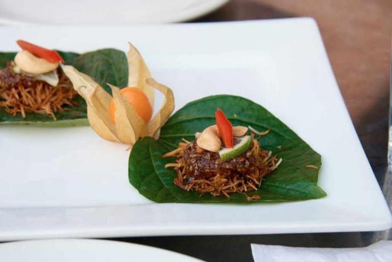 A ChuChai appetizer dish