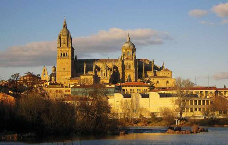 View of the Salamanca's Cathedral from Tormes' river