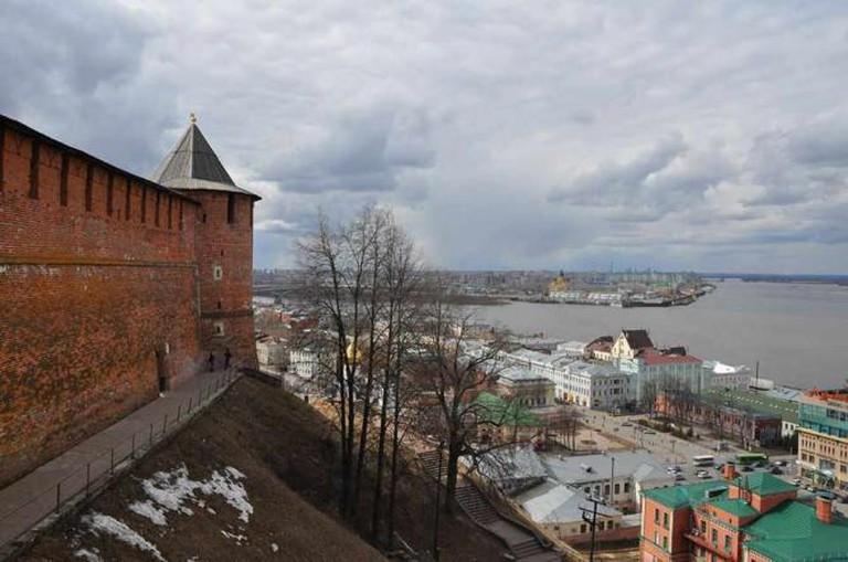The view over Nizhny Novgorod from the city's Kremlin walls | Courtesy of Nathaniel Hunt
