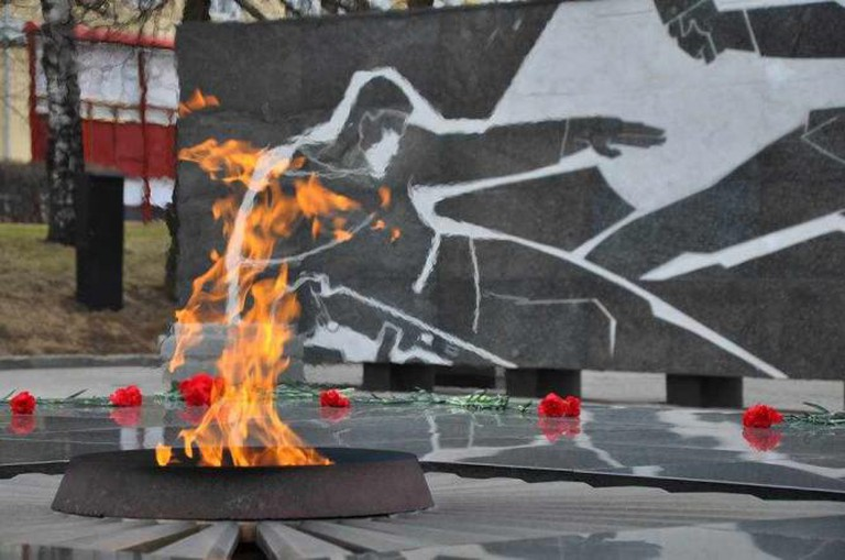 The eternal flame in Nizhny Novgorod's Kremlin | Courtesy of Nathaniel Hunt